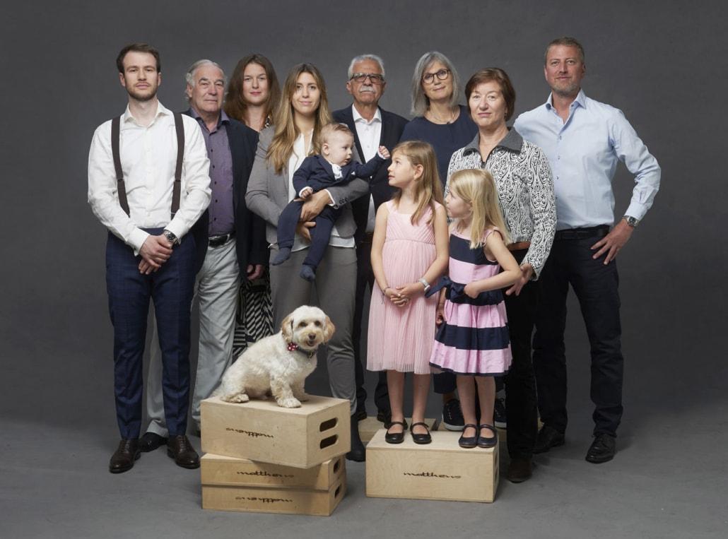 Familienfoto ©Dominic Büttner. Zürich