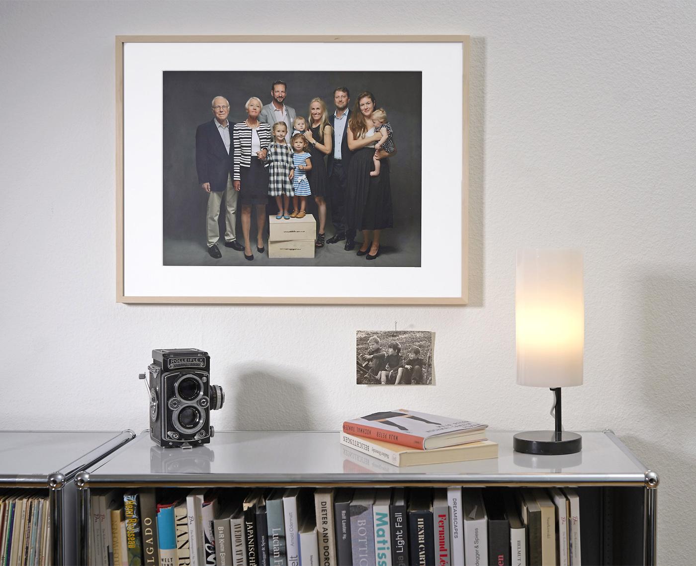 Familienfoto gerahmt