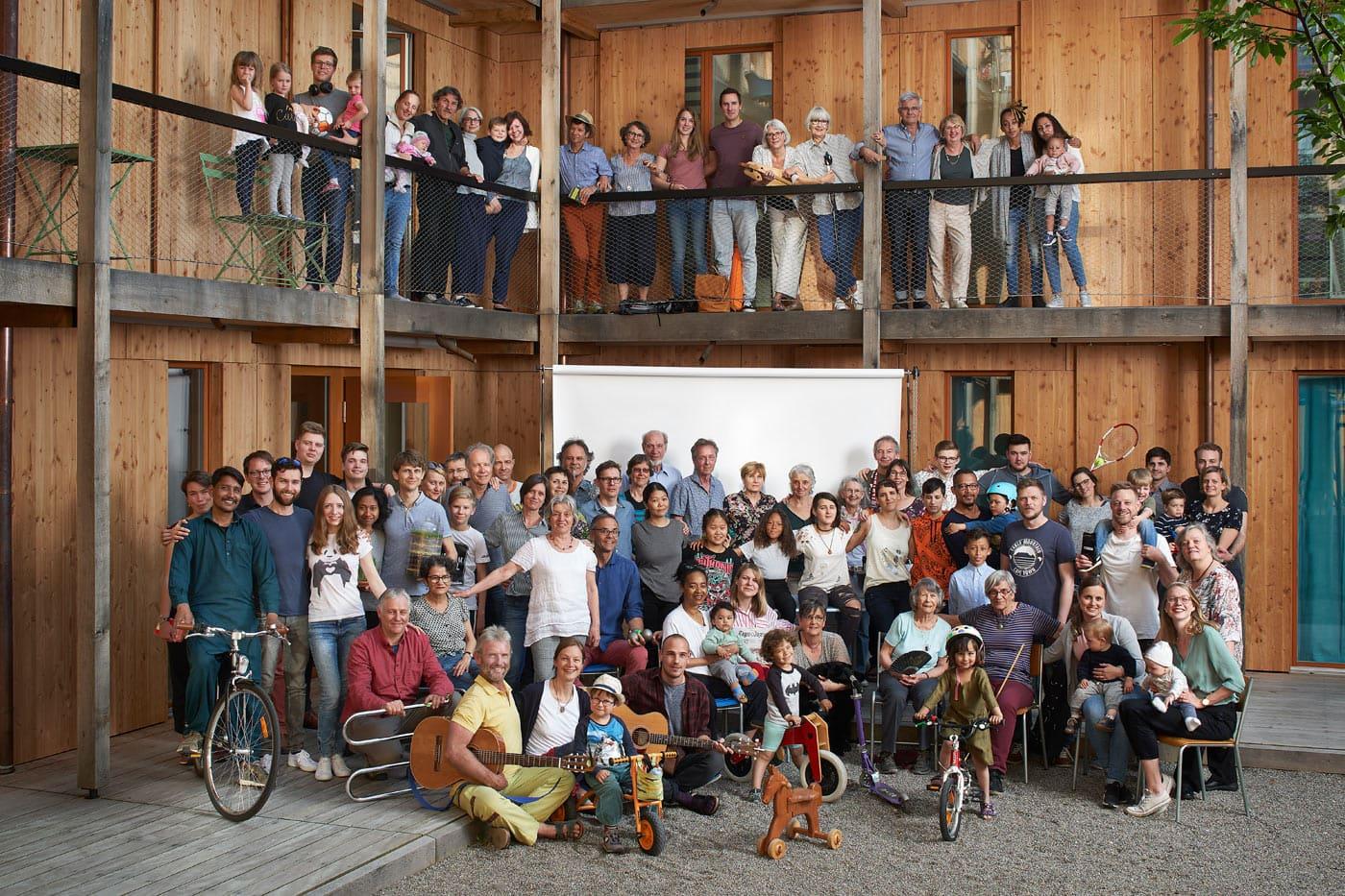Familienfoto © Dominic Büttner. Zürich